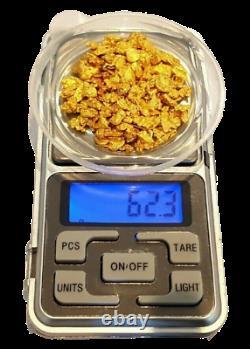 West australian high purity rare natural pilbara fine gold nuggets 62.3 grams