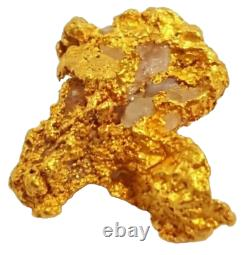 West australian high purity rare natural pilbara gold nugget weight 0.8 grams