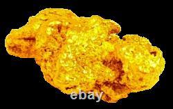 West australian high purity rare natural pilbara gold nugget weight 2.3 grams