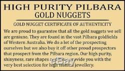 Western australian high purity natural pilbara gold nugget weight 32.6 grams