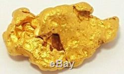 Western australian high purity rare natural pilbara gold nugget weight 3.0 grams