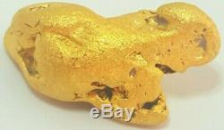 Western australian high purity rare natural pilbara gold nugget weight 30.4 gram